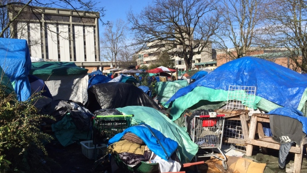 victoria-tent-city fire hazard