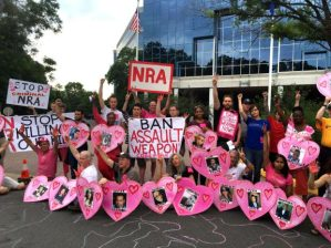 Codepink protesters outside the NRA headquarters, Fairfax, Virginia June 19, 2016. (Photo: CODEPINK).