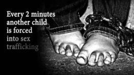 Every two minutes child forced into sex slavery