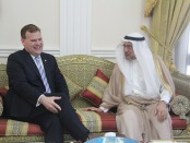 Foreign Affairs Minister John Baird meets with Iyad Ameen Madani, Secretary General of the Organization of Islamic Cooperation.