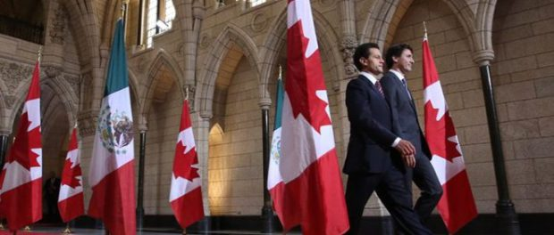 Prime Minister Justin Trudeau holds a joint media availability with President of Mexico, Enrique Peña Nieto.