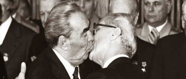 """The Fraternal Kiss"" is an example of how a single image can go beyond pure representation and elevate the documentary photography to another level. Depicting the emblematic act for the communists, Bossu's photograph epitomizes the whole communist world. It symbolizes a mighty site of the Cold War: the Eastern Bloc, thus in a way the Cold War itself."
