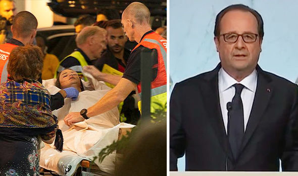 Francois Hollande confirmed many of the dead were children
