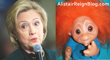 Hillary Clinton and Troll Girl: Ooopsies, which one accidentally deleted incriminating emails?