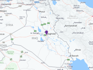 In the first attack, a car bomb exploded in the Karada district in central Baghdad. Shortly afterward, an improvised explosive device went off in eastern Baghdad