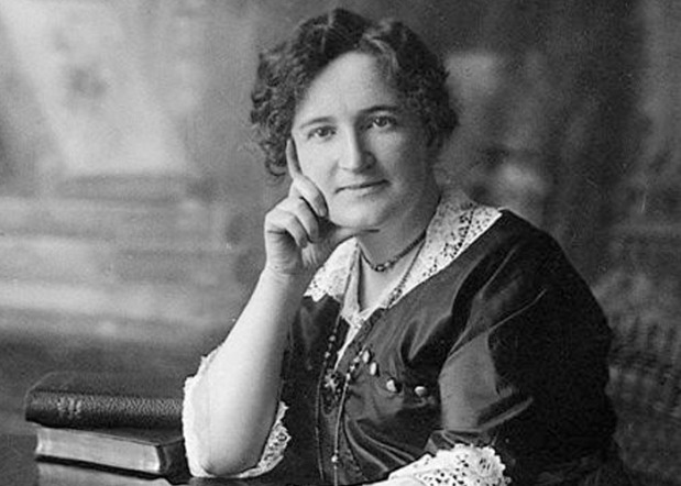 "Nellie McClung 1873-1951 - Suffragette Nellie McClung achieved national renown as one of the five appellants (the ""Famous Five"") in the ""Persons"" Case, the constitutional ruling that established the right of women to be appointed to the Senate. As a politician and public lecturer, she campaigned vigorously for social reform and women's rights. McClung was a Liberal member for Edmonton in the Alberta legislature (1921-26) and the first female member of the CBC Board of Governors (1936-42). She was also the author of several influential books written in the style of the Methodist and temperance literature of her day, including Sowing Seeds in Danny (1908) and Clearing in the West: My Own Story (1935). Photo: Library and Archives Canada Source: The Canadian Encyclopedia."
