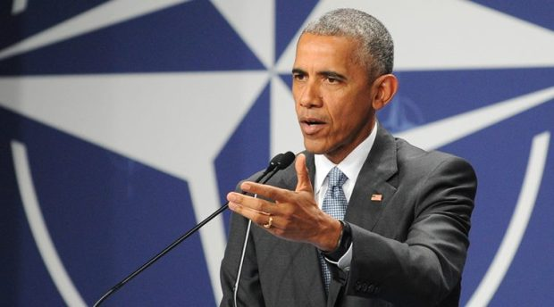 United States President Barack Obama gestures during a press conference ending the second day of the NATO Summit, in Warsaw, Poland, Saturday, July 9, 2016. U.S. President Barack Obama and other NATO leaders have begun the second day of a summit meeting in Warsaw that's expected to lead to decisions about Afghanistan, the central Mediterranean and Iraq. (AP Photo/Alik Keplicz)