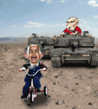 putin chases obama