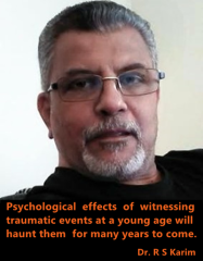 dr karim quote for trauma on children