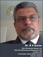 Dr. RS Karim. Co-founder of Mona Relief Charity. Mona Relief was founded by Yemeni journalist and activist, Fatik Al-Rodaini, and London based humanitarian, Dr. R S Karim. The two had connected on Twitter social media last year (2015), and their mutual concern for the Yemeni people brought them together under one cause - to save Yemen lives. (Alistair Reign News Blog at www.AlistairReignBlog.com),