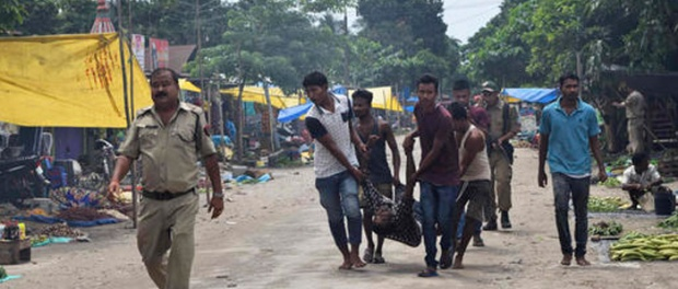 Fourteen persons, including two women, were killed in Kokrajhar district of Assam in broad daylight on Friday when militants dressed in Army fatigues opened fire and hurled bombs at a busy weekly market. Though the incident occurred 15 km from Kokrajhar town, an Army patrol van which was nearby when the firing started engaged the terrorists, killing one of them.