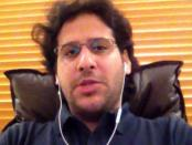 Waleed Abu al-Khair, prominent lawyer and human rights activist, speaks to Human Rights Watch over Skype from Jeddah, Saudi Arabia on September 19, 2013. © 2013 Human Rights Watch
