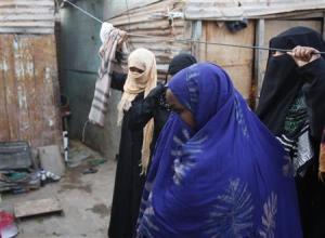 Somali prostitutes gather in a slum house in the southern Yemeni port city of Aden February 7, 2010. REUTERS/Khaled Abdullah
