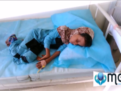 According to Yemen Health Ministry's report about the cholera situation in Yemen from April 27 to July 6, 2017, the total number of suspected cholera cases is 291,554,and half of the sick are children.